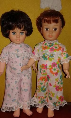 Le 2ème pyjama pour Marie-Françoise, modèle août 1970.