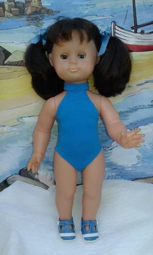Maillot de bain Juillet 1987 en bleu turquoise