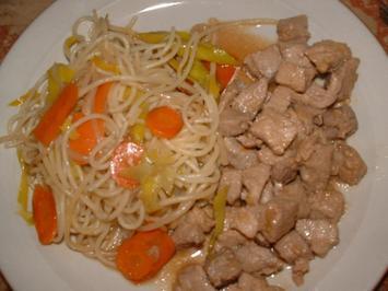 Spaghetti façon thai