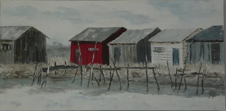Cabanes ostréicoles  30x60