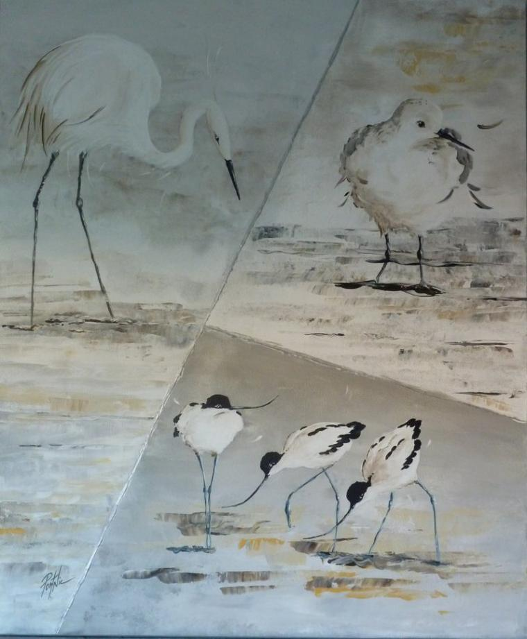 Migrateurs - toile 65x54- Acrilyque