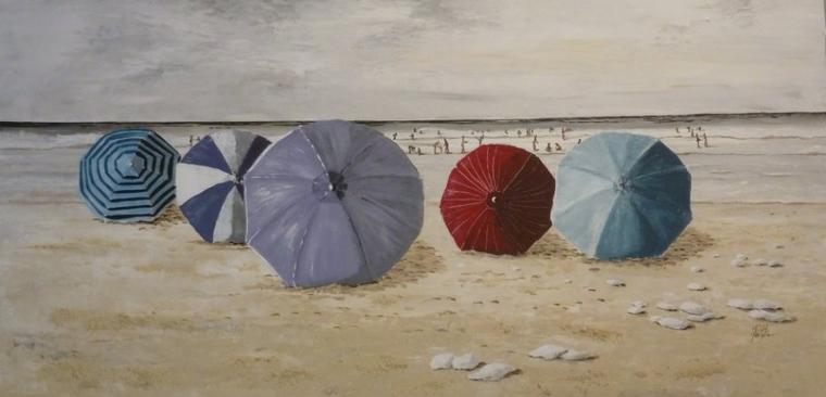 Journée à la plage 50x100 Acrylique