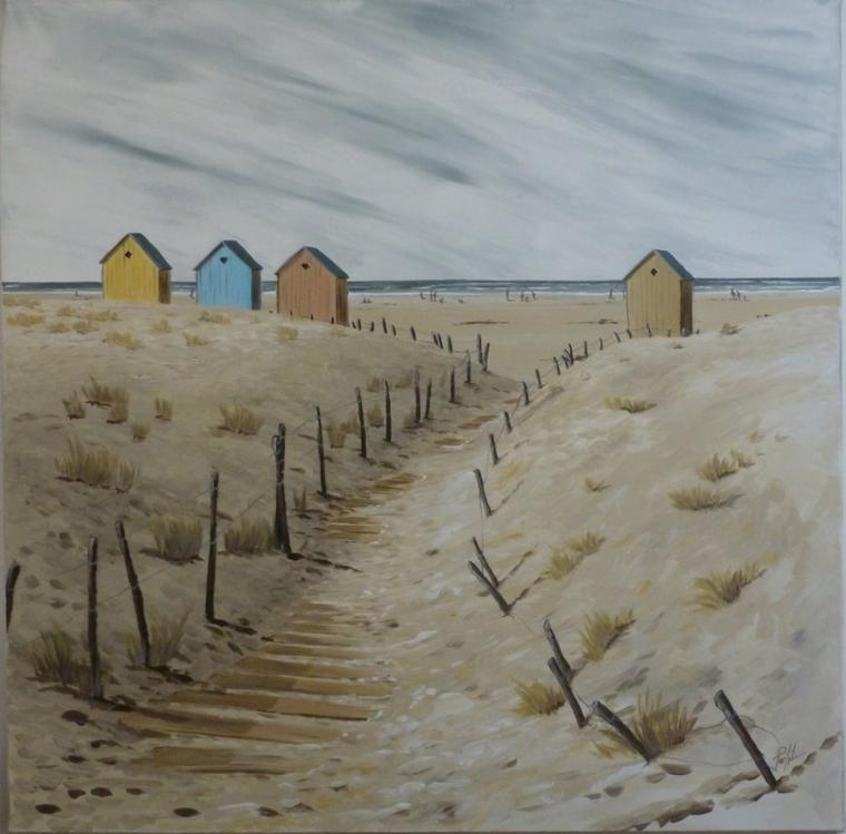 Chemin des dunes 80x80- acrylique