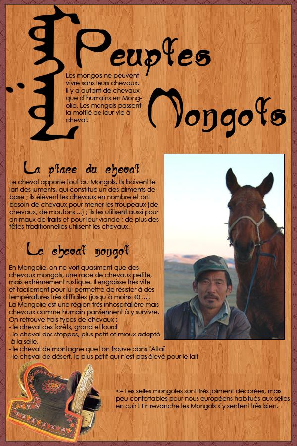 Mongols - Peuple du cheval
