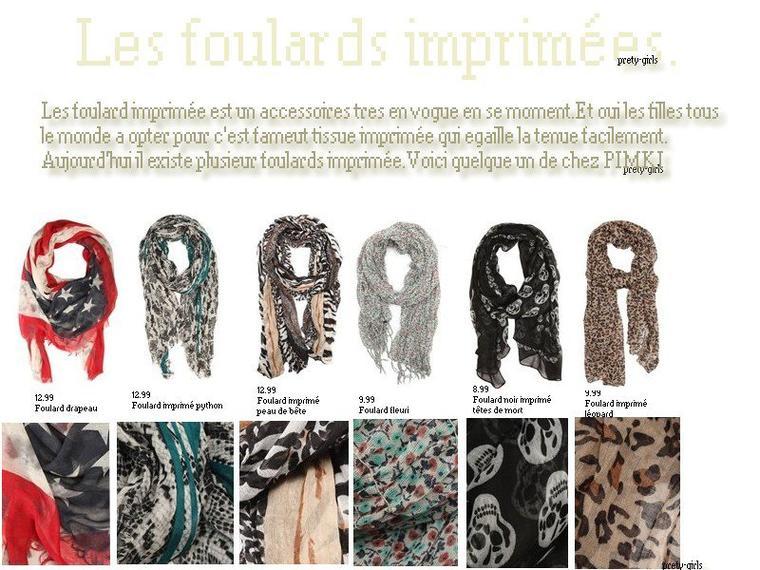 LOOK:Les foulard imprimées.