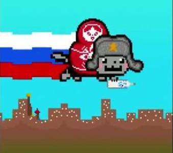 Clique sur le Nyan Cat russe