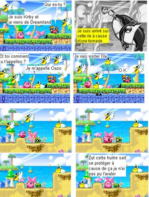 Kirby sur les îles pélicans épisode 1 : L'arrivée sur l'île