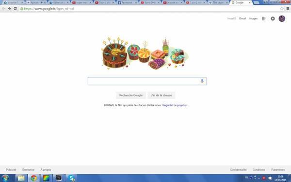 Merci Google pour s'être rappelé de mon anniversaire :)