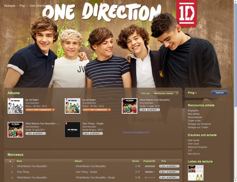 """Photo via Facebook + L'album """"Up All Night"""" est désormais en pré-commande sur l'Itunes Store Français et si vous ne le savez pas encore le single """"One Thing"""" est en vente sur l'Itunes Store."""