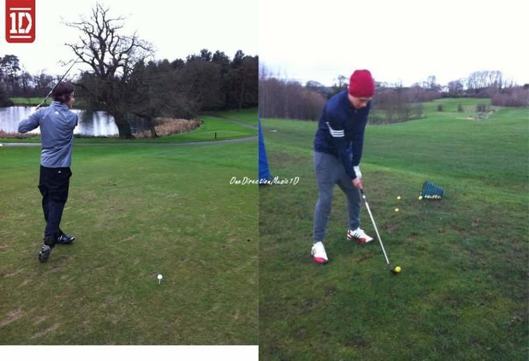 """26 Jan 2012 : Niall & Harry au golf +  Vidéo - Message des Boys pour le magazine Espagnol """"Star 2"""""""