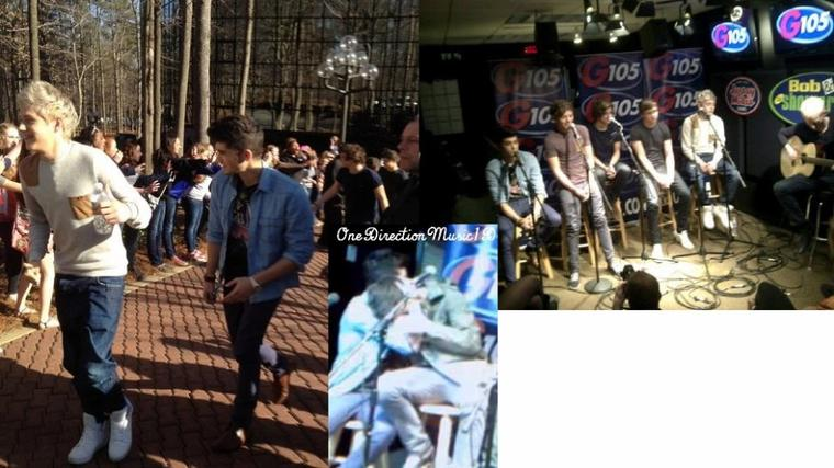 "Pulse 102 winners interview One Direction + One Direction Interview: Simon Cowell, moving out and chef Harry +Pour ceux qui ont loupés l'ustream + Les Boys & Des Fans à la radio "" Pulse102"" +6Mars2012 : Les Boys devant G105 RADIO"