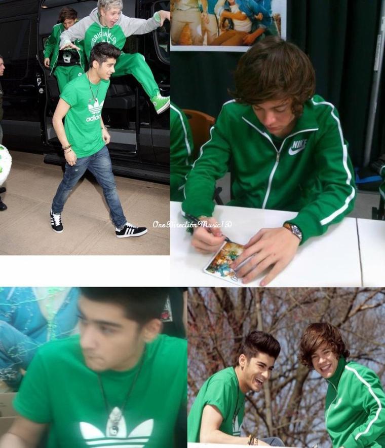 Eleanor est sur Twitter + Zayn a signé les seins de quelques filles pendant la séance de dédicace ! Et Harry aurait apparemment fait la même chose + Hier matin à NJ + Les garçons se sont habillés en vert pour la St Patrick Day! (La fête Nationale Irlandaise) 17/03/12. +Coup de coeur ♥