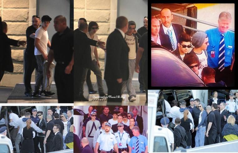 Niall sur un bateau + Les garçons à l'aéroport de Sidney + Les garçons sur un bateau +  10.04.12 - Aéroport de Sydney +10.04.12 - Hotel à Sydney  +10.04.12 - Les garçons faisant du bateau, Sydney