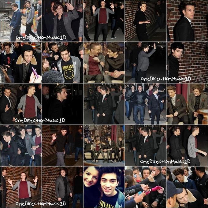 Concert au Connecticut - 1er Décembre 2012 + Concert au Madison Square Garden - 3 Décembre 2012 + Teen mag photoshoot - 2012 + Concert privé à NYC (Go1Den Ticket) - 4 Décembre 2012 + Photoshoot dans Midtown (NYC) - 5 Décembre 2012 + Les boys à David Letterman Show à NYC - 6 Décembre 2012 + Semaine couples + NEWS / RUMEURS / VIDÉO / LIENS ...