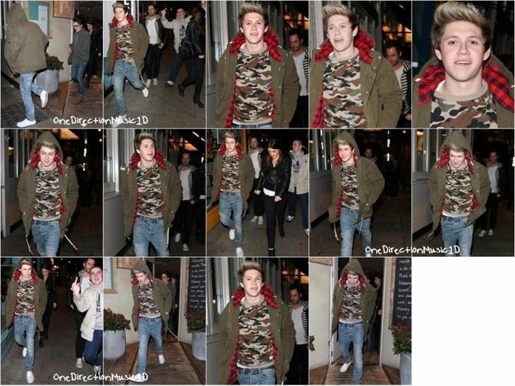 Harry à Glasgow, Scotland - 27 Janvier 2013 + Harry à Heathrow à Londres - 28 Janvier 2013 +  Fête d'anniversaire d'Harry à Londres - 1er Février 2013 + Les Boys sans Harry au studio à Londres - 2 Février 2013 + ête d'anniversaire d'Andy avec Louis et Liam - 1er Février 2013 + Niall en dehors du studio à Londres - 4 Février 2013 + Niall sortant d'un restaurant à Londres - 2 Février 2013 + NEWS / RUMEURS / VIDÉO ...