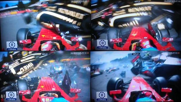 Accident premier virage - Spa 2012.