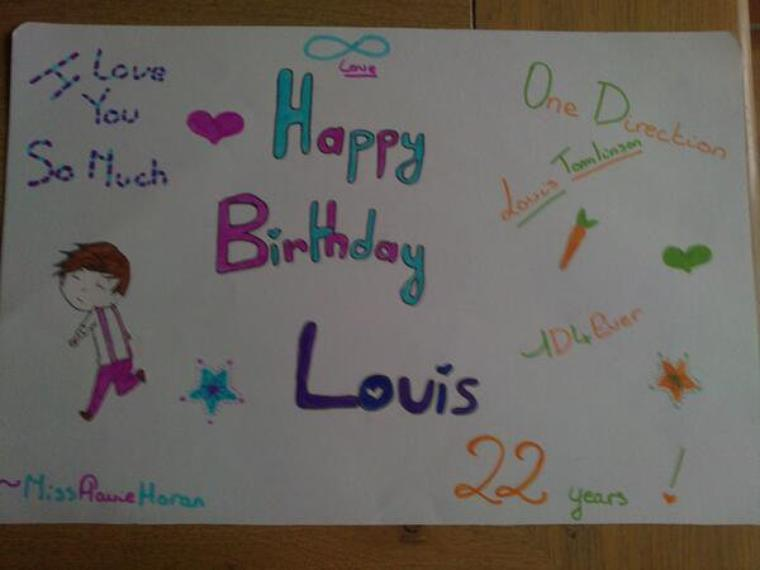 Louis Tomlinson 22 years !!!!