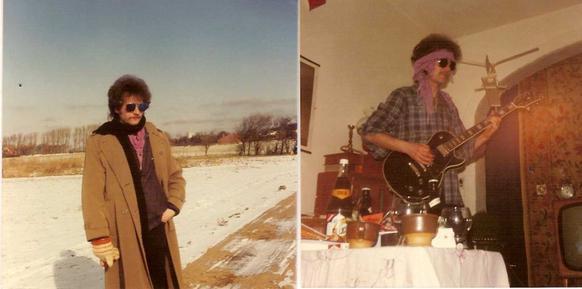 Moi en 1979 Sud de France et 1980 au Danemark
