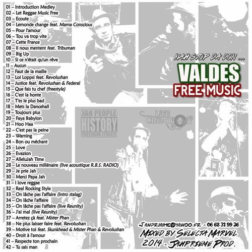 "VALDES : ""FREE MUSIC - Nah Stop Da Don"" mix by Selecta Marvel"