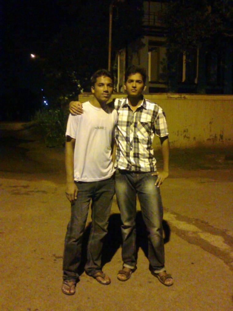 me in the left and my frnd Praveen