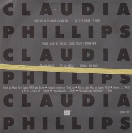 Côté promo  Claudia Phillips - Donne-moi du feu (1991)