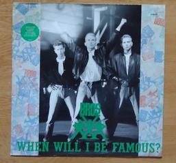 Côté promo  Bros - When will I be famous? Disque poster (1987)