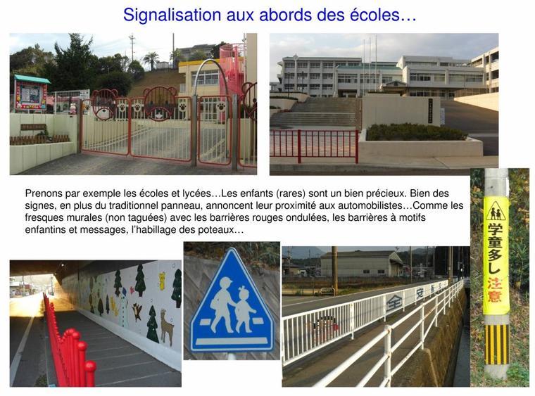 Signalisation aux abords d'une école japonaise