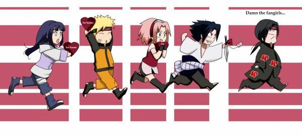 Hinata ,Naruto ,Sakura ,Sasuke et Itachi .