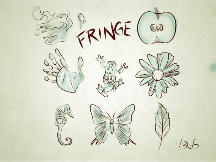Fringe souvenir ,dessins par les fans ,un chaque jour