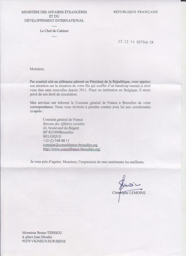 Objet : Commission de crimes contre l'humanité