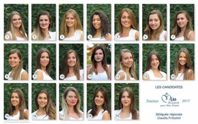 Candidates à Miss Alsace 2017