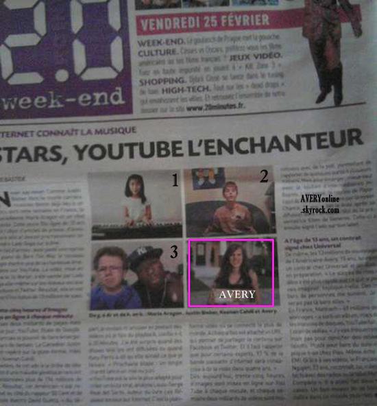 FLASHBACK__ Le 25/02/2011  Apparition dans le quotidiens parisien le 20 minutes  __