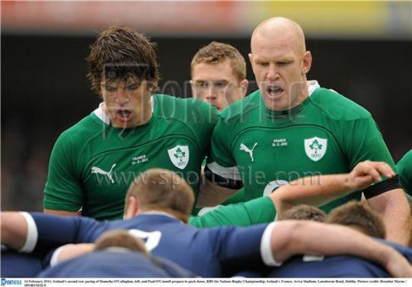 Donncha O'Callaghan agus Paul O'Connell Donncha O'Callaghan et Paul O'Connell