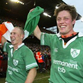 Ronan O'Gara agus Peter Stringer  :) Ronan O'Gara et Peter Stringer  :)