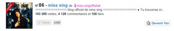 you c'est toi miss sing
