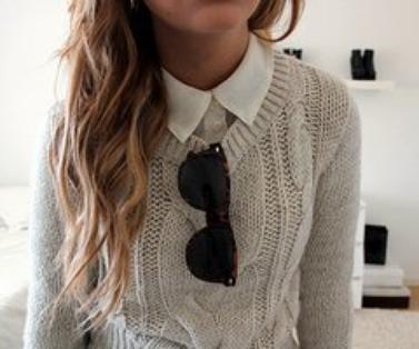 Le pull tricoté , de retour dans les gardes robes !