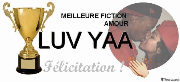Gagnant de la meilleure fiction : Amour