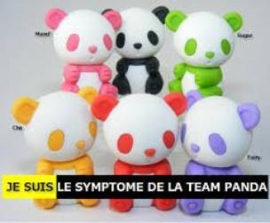 Je suis le symptôme de la team Panda ^o^