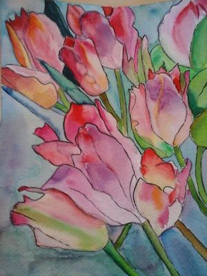 """Tulipes"" Aquarelle"
