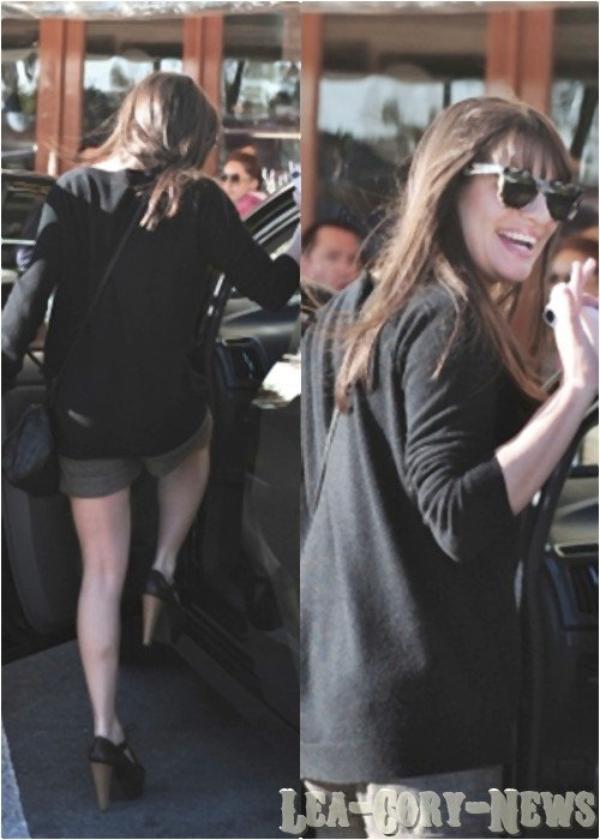 16/02/12 : Lea a etait appercut sortant d'un restaurant.Top Ou Flop ?