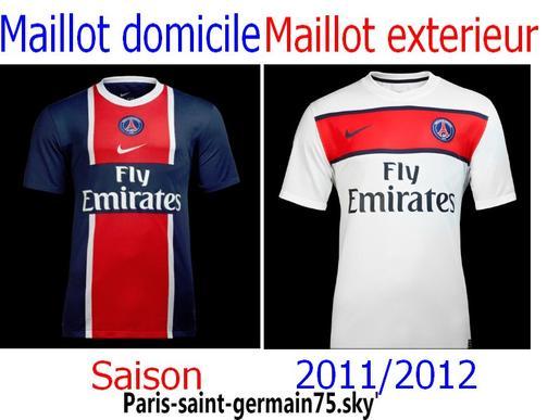 Maillots du PSG saison 2011-2012