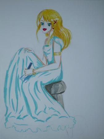 dessin fille qui dessine *-* le jeu de mot