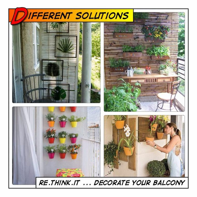 deco plantes et fleurs pour balcons