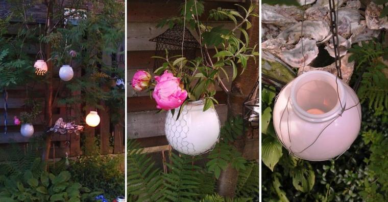 vase globe et photophore globe pour jardin