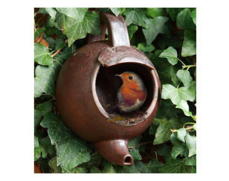 théière nid d'oiseaux