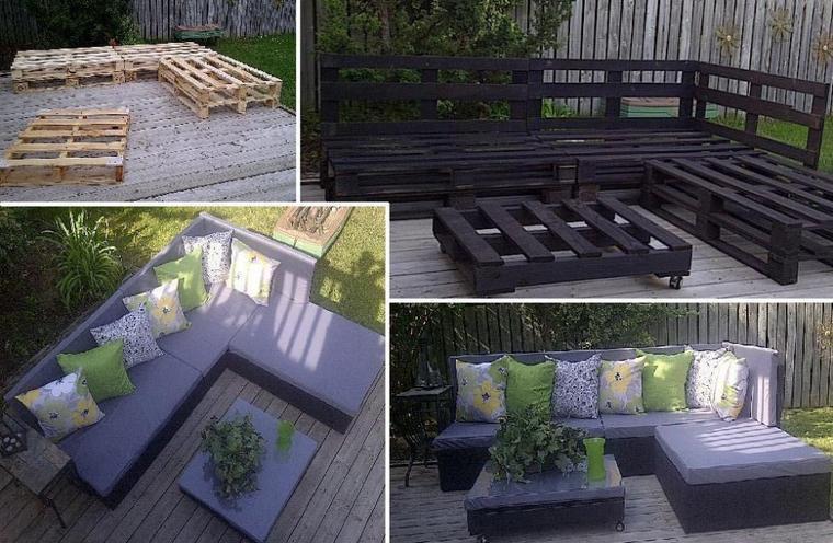 salon de jardin  avec des palettes