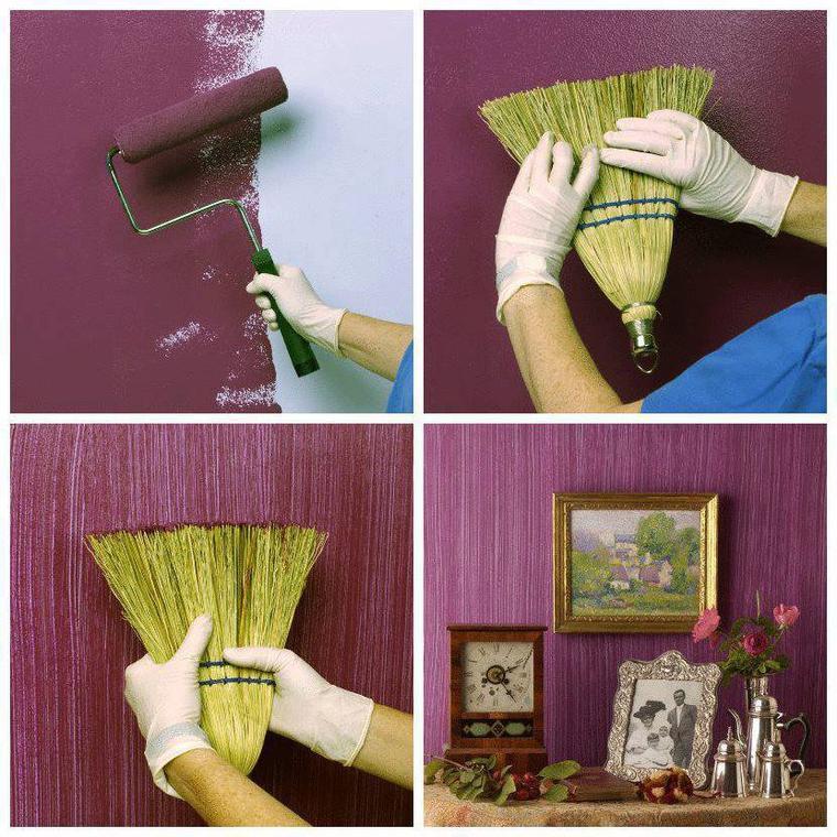 astuce de peinture avec un balai