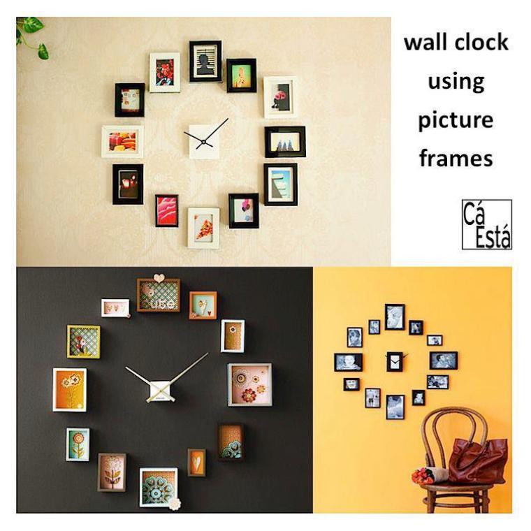 horloge cadres ou photos de famille