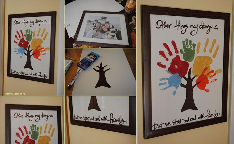 tableau de mains de toute la famille