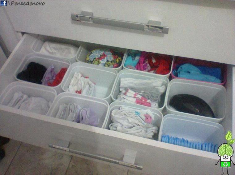 rangement  de tiroirs pour sous vetements